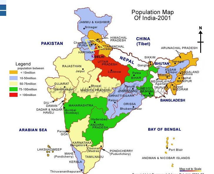 Map of India D3080