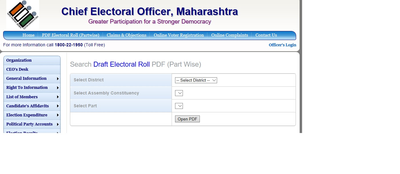 Maharashtra Voter List Search Name