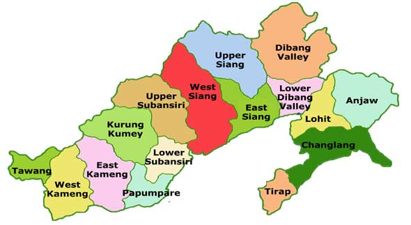 Arunachal Prdaesh map