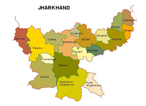 jharkhand map s