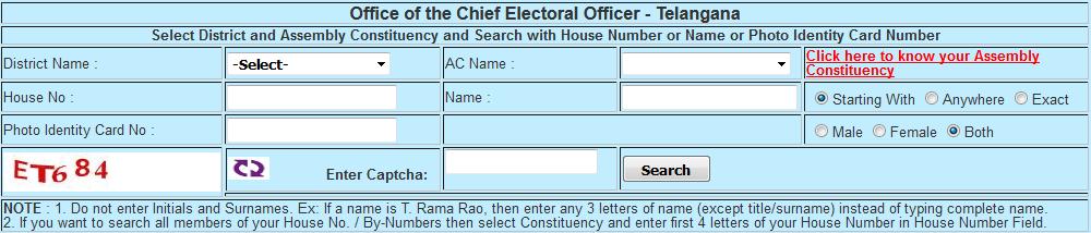 Voter Id Card Pdf Telangana